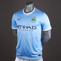 Nike Man City Home 13 14 Replica SS Shirt - Field Blue Obsidian 2210c2cb8