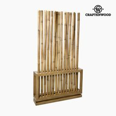 Folding screen Bamboo Natural (100 x 20 x 179 cm) - Pure Life Collection by Craftenwood
