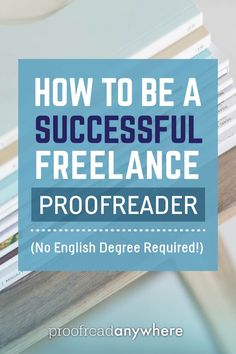 5 things successful proofreaders have in common (NOT an English degree!) via @#