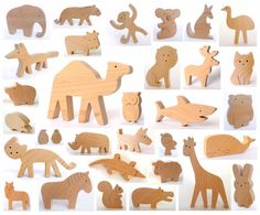 ANY 6 animals Organic wooden toy Wooden toy animals
