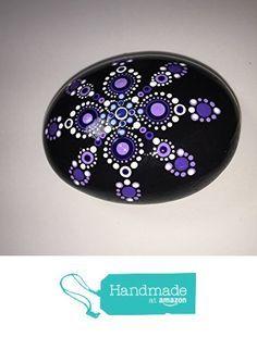 Hand Painted Mandala Stone #103 from Mafa Stones http://www.amazon.com/dp/B01CMJIVNO/ref=hnd_sw_r_pi_dp_PjC6wb0698TMK #handmadeatamazon