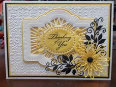 Card Art Deco Cards, Spellbinders Cards, Sue Wilson, Die Cut Cards, Congratulations Card, Card Making Inspiration, Pretty Cards, Sympathy Cards, Big Shot
