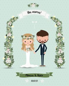 #Photocall de #boda #personalizado impreso en lona, con o sin soporte desde 47,50€