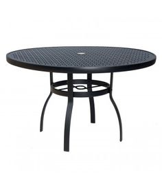 Deluxe 48 inch Round Umbrella Table with Lattice Top