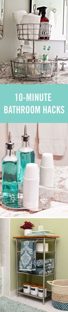 It really shouldn't be so hard to keep the bathroom clean and organized, so we rounded up some quick hacks to make your bathroom a better place — from under the sink organization to DIY over the sink storage.