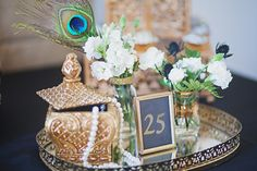 Great Gatsby Roaring Mid-20's Party | photo by Rachel Manning Photography | 100 Layer Cake