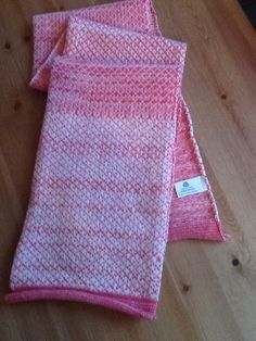 Lambswool scarf made on Brother Knitting Machine.