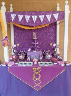 Rapunzel Cake table