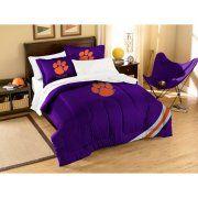 NCAA Applique 3-Piece Bedding Comforter Set, Clemson