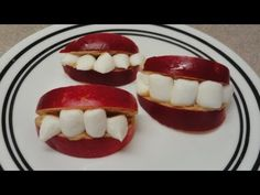 Vampire Apple Smiles - Halloween recipe