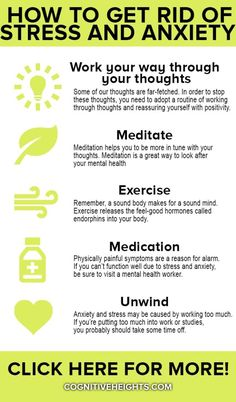 How to Get Rid of Stress and Anxiety Anxiety Causes, Anxiety Tips, Anxiety Help, Anxiety Relief, Stress And Anxiety, Stress Relief, Anxiety Facts, Causes Of Stress, How To Manage Anxiety