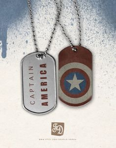 Pendant+Captain+America+++the+Avegers++dog+tag+by+FeerieDoll,+€5.26