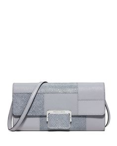 MICHAEL Michael Kors Cynthia Large Patchwork Evening Clutch Bag, Dove