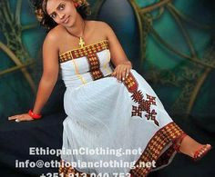 Ethiopian traditional dress Ethiopian clothing | Eritrean clothes | Habesha dresses