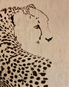 Wood burning by Julie Bender I love this idea I must make a similar one for my aunt who loves big cats of all types. :D