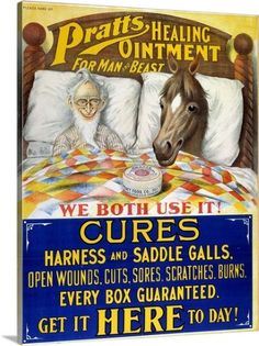 Premium Thick-Wrap Canvas Wall Art Print entitled American Patent Medicine, None