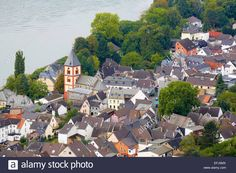 View From The Erpeler Ley At Erpel, Rhine, Rhineland-palatinate Stock Photo, Royalty Free Image: 78460954 - Alamy