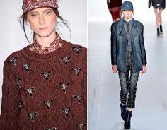 Acessório embutido: na Colcci, tricots e jeans ganharam aplicações com cristais em resultado de efeito visual poderoso - Sâo Paulo Fashion Week - Inverno 2013