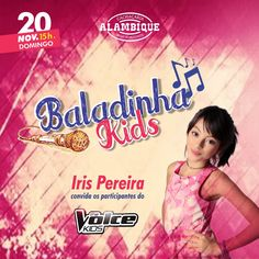 Baladinha Kids, The Voice Kids, Alambique, Belo Horizonte, Iris Pereira