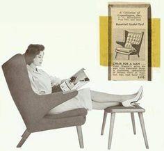 Papa bear chair vintage ad