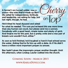 """Ben's prayer"" • Cherry on Top by Karla Doyle • March 2015 • http://www.karladoyle.com/books/cherry-on-top/"