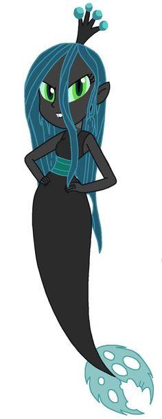 EG Mermaid Queen Chrysalis by CruellaDeVil84 on deviantART