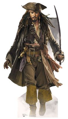 Captain Jack Sparrow - Cardboard Cutout - Johnny Depp - Pirates of the caribbean Approx 6ft tall cutout. Johnny Depp stars as Captain Jack Sparrow, one of t