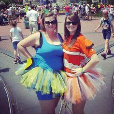 Nemo and Dory costumes!