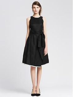 $150 Belted Fit-and-Flare Dress
