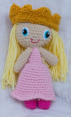 Customize Your Own Princess Doll (Crocheted Stuffed Toy). $18.00, via Etsy.