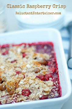 Hip and Cool with Classic Raspberry Crisp Recipe