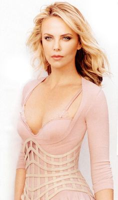 Charlize Theron and Alexander McQueen Spring 2012 Corset Belt