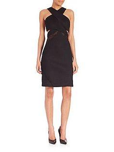 Kendall   Kylie Crisscross Mesh Dress