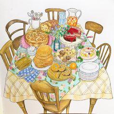 Autumn Illustration, Pattern Illustration, Dream Rooms, 2 Colours, Coloring Books, Folk Art, Clip Art, Illustrations, Paper