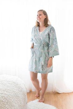 DIY Kimono-Morgenmantel nähen, Kimono für gemütliche Morgende