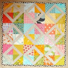 Mini quilt with friendship block.