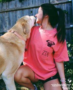 girl's best friend 🐶 | Zeta Tau Alpha | Made by University Tees | universitytees.com