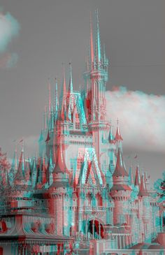 Disney Anaglyph FYI, Turn your photos to using this special free app for your… Trippy Pictures, 3d Pictures, Editing Pictures, Photo Editing, Glitch, Disney Cinderella Castle, 3d Foto, Blue Aesthetic, Photomontage