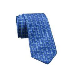 """Silk Tie """"Aqua"""" Cyclades"""
