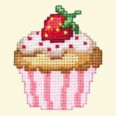 Máquina De Cupcakes Cross Stitch Embroidery Designs