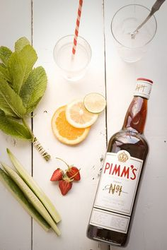 Pimm's Cup! 1 lemonade  1 ginger ale 3 Pimm's No 1 Over Ice,  Garnish with some or one of:  mint,cucumber, lemon, seasonal berries