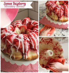 I Dig Pinterest: Lemon Raspberry Monkey Bread & Tips for Quick Clean-Up Afterwards