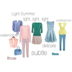Light Summer - an excercise, created by silverwild on Polyvore