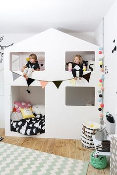 Bunkbeds. Preciosa habitación de estilo nórdico.