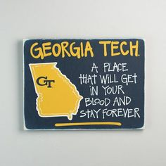 Glory Haus Georgia Tech Map Graphic Art