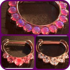 Industrial Strength septum clickers available here at Tattoo Charlie's Preston Hwy.   American made, quality jewelry.