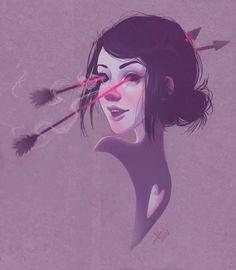 Cupid's Curse | Follow Lucie Shearer's Illustration Tumblr