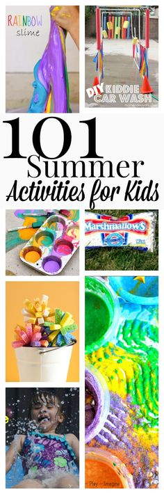 101 Summer Activities to do with Kids. Need this for my babysitting job! Summer Fun For Kids, Summer Activities For Kids, Craft Activities For Kids, Toddler Activities, Projects For Kids, Outdoor Activities, Games For Kids, Babysitting Activities, Babysitting Fun