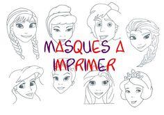 masques à imprimer, disney, reine des neige, raiponce, mardi gras, carnaval