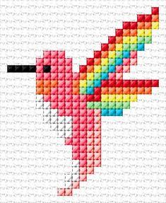 Free cross-stitch design & 23 x 28 stitches 9 colors Cactus Cross Stitch, Tiny Cross Stitch, Cross Stitch Bookmarks, Cross Stitch Cards, Cross Stitch Animals, Cross Stitch Embroidery, Hand Embroidery, Embroidery Patterns, Cross Stitches